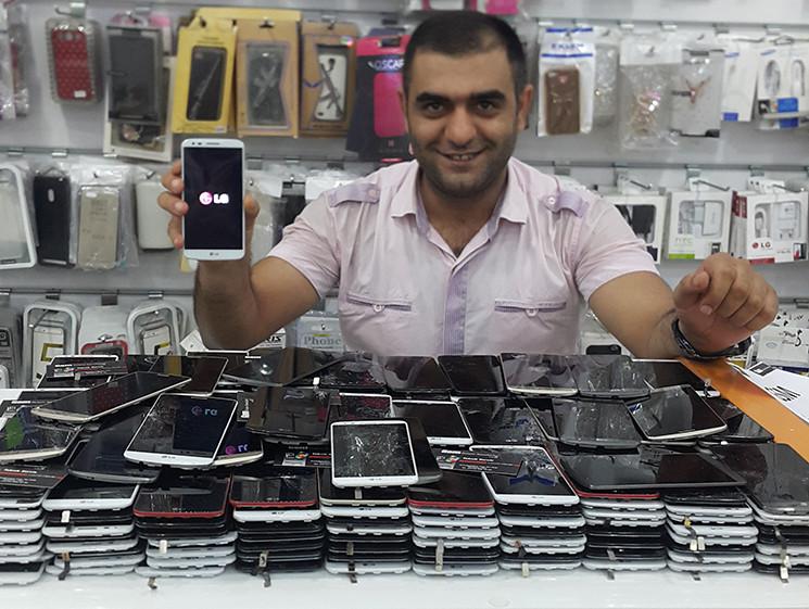 GSM İletişim Tarafından Değiştirilmiş LG G2 G3 Çatlak Ekranlar