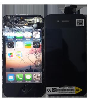 iphone 4 kırık orjinal ekran