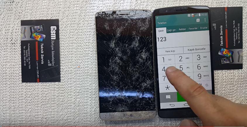 Kırık Ekranı Değiştirilmiş LG G3 D855