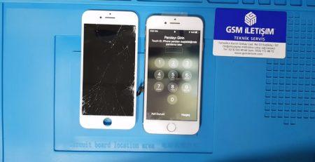 iphone 6s plus ekranı kırıldı camı çatladı
