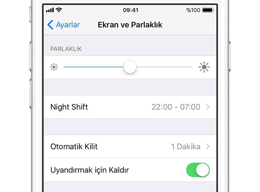 iPhone yakınlık sensörü açma kapama ayarı