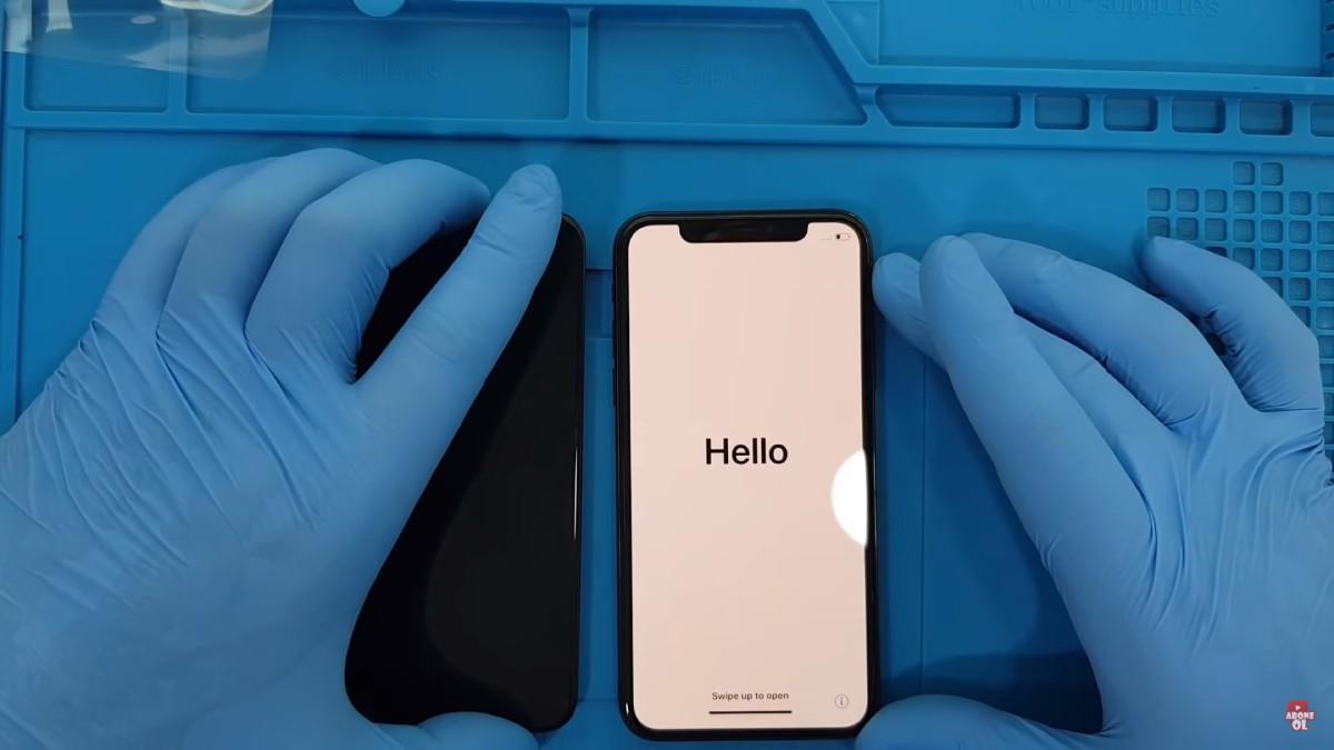 iphone xs ekranı kırıldı ön cam çatladı